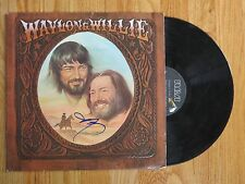 WILLIE NELSON signed WAYLON & WILLIE 1978 Record / Album COA Farm Aid