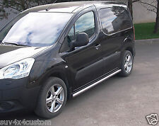 PROTECTIONS LATERALES, MARCHE PIEDS CITROEN BERLINGO 2008- INOX DIA 60mm