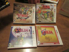 LOT 4 NINTENDO 3DS THE LEGEND OF ZELDA OCARINA OF TIME 3D,MAJORA'S MASK 3D + NEW