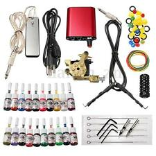 Kit Tatouage Aiguille Tattoo Machine à Tatouer 20 Ancre Alimentation Complet Set