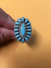 Native American Navajo Womens Turquoise Cluster Ring Size 10 Nice & Sexy Wow!!!
