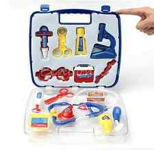 New Pretended Doctor's Nurse Medical Carry Case Kit Roll Play Set Kids Toy Gift