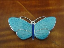 Butterfly Blue Enamel Sterling Silver 925 BROOCH Pin