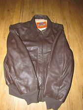 Cooper A2 Brown Leather Bomber Jacket 44R with 50th Anniversary of Victory Comme