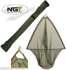 50 INCH GREEN LANDING NET METAL BLOCK + NGT SPECIALIST CARP FISHING STINK BAG