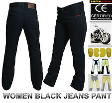 Women Motorbike Cotton Jeans Pants Reinforced with DuPont™ Kevlar® fiber