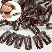 40pcs Useful U Shape Metal Snap Clip for Hair Extension Wig Tools 33mm x 16mm