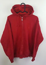 Homme vtg rouge fila athletic sports zip-up survêtement haut veste vgc uk m
