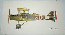 AVIATION CARLO DEMAND PLANCHE 48.5 X 27 CHASSE S.E. 5 a 1918