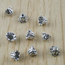 100pcs Tibetan silver beads caps charms h2941