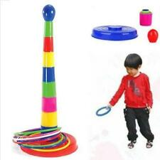 Children Outdoor Plastic Ring Toss Quoits Garden Game Toy Play Set Pack