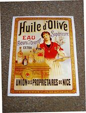 .. Metal Plaque Retro Advertisement for Huile d'Olive Extra