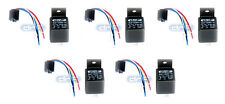 (5 PAIR) 30/40 AMP 12V BOSCH STYLE RELAY HARNESS SPDT + 100% COPPER WIRES