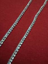 Slim New Fancy Design anklet (payal) in silver color with white stone