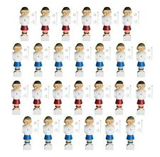 "26 Old-Style Foosball Replacement Men with Hardware - 13 Blue & 13 Red - 5/8"" Ro"