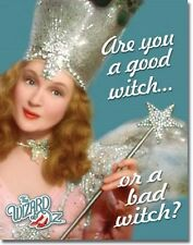 "12 1/2"" X 16"" ARE YOU A GOOD WITHC OR A BAD WITCH WIZARD OF OZ METAL SIGN NEW"