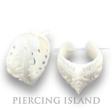 Ohrringe Earrings Flesh Tunnel Horn Plug Piercing Design Schmuck ER162
