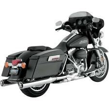 Vance & Hines - 16773 - Monster Round Slip-Ons, Chrome with Chrome Tips