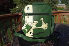 NWT Authentic Vespa Large Green & Cream Shoulder Bag REally Cool Unisex Handbag