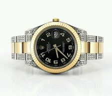 Datejust 2 II 41mm Two Tone Watch Iced Out 6.50 Ct Diamonds Video