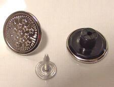3  BOUTONS  argentés pour jean NEUFS * 17mm  1,7 cm * button sewing easy