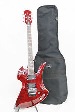 BC Rich Mockingbird Pro-X Active Pickups 6 String Electric Guitar - Trans Red