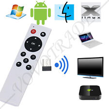2.4G Mouse Senza Fili Air Tastiera Telecomando per PC TV Android TV Box Bianco