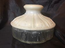 Antique Aladdin 501 White and Clear Glass Lamp Shade
