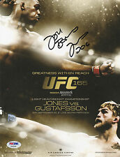 JON BONES JONES SIGNED AUTO MINI POSTER PSA/DNA UFC 165 VS ALEXANDER GUSTAFSSON