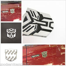 Chrome Silver 3D Transformers Emblem Badge Vehicle Fender Sticker For Land Rover
