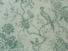 Sanderson Curtain Fabric PILLEMONT TOILE 3.2m Duck Egg Bird Design 320cm