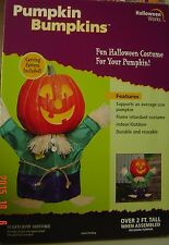 NEW Halloween Pumpkin Bumpkins SCARECROW Costume 2' Tall Assembled Collect