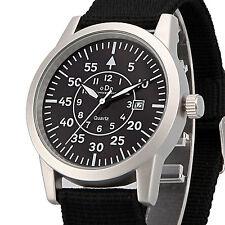Men's ODO Luxuary Army Military Outoor Quartz Date Wrist Watch G SC8029 Silver/B