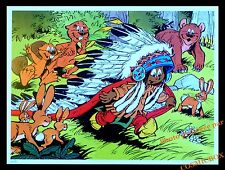 YAKARI famille castor ours lapin AFFICHE forêt chambre poster indien pour enfant