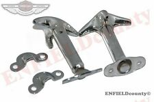 CHROME PLATED PAIR HOOD BONNET LATCH KIT FOR 4X4 JEEP WRANGLER WILLYS @ ECspares