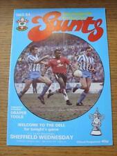 20/03/1984 Southampton v Sheffield Wednesday [FA Cup Replay]  (Item has no appar
