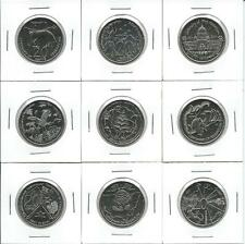 2001 Federation 20c Coins:Complete set of 9 uncirculated coins