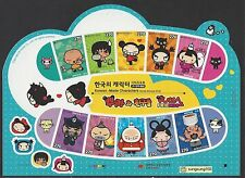 "South Korea 2012  Korea - Characters ""Pucca & Friends"" Mini S/S Sticker Cartoon"