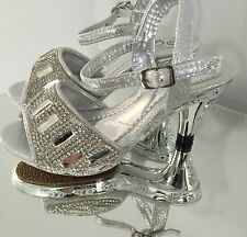 kids girls pageant cute little jewelled silver boutique bespoke heeled shoes