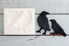 Stampo in silicone, Halloween Gotico Cornacchie, CORVI,' Berserker' , ellam Sugarcraft M189