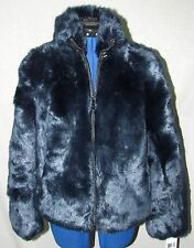 NEW NWT MICHAEL KORS FAUX FUR EMERALD BLUE JACKET SZ SMALL