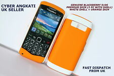 GENUINE BLACKBERRY 9105 PREMIUM SKIN (2 PC WITH SHELL) WHITE SHELL + ORANGE SKIN