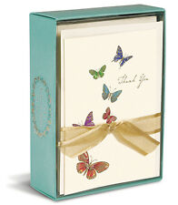 Butterflies 10 Boxed Thank You Cards by Graphique de France
