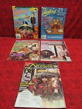 LOT /5 WOOD STROKES DECORATIVE WOODCRAFTS & PAINTING (TOLE) MAGAZINE BACK ISSUES