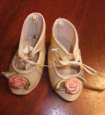 Nice Vintage Doll Shoes 3-1/8''