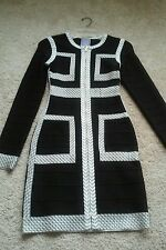 Herve Leger Dress Black & White (Small) Authentic
