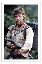 CHUCK NORRIS BRADDOCK MISSING IN ACTION AUTOGRAPH SIGNED PHOTO PRINT