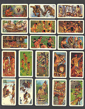 CIGARETTE/TRADE/CARDS.B/Bond(Canada).INDIANS OF CANADA.(Complete Set of 48).1974