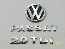 2004 2005 VW PASSAT TDI 2.0 REAR TRUNK CHROME EMBLEM LOGO BADGE SIGN SET OEM