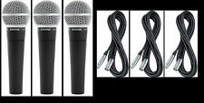 (3) New Shure SM58 Vocal Mics & Cables Authorised Dealer Make Offer Buy It Now!